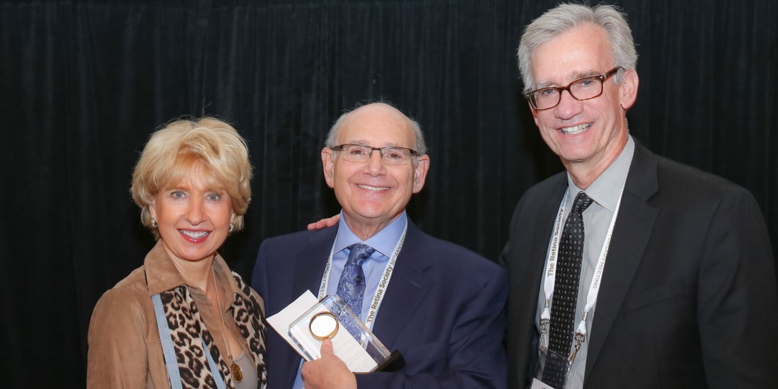 Lawrence J. Singerman with award and Retinal Society chairs